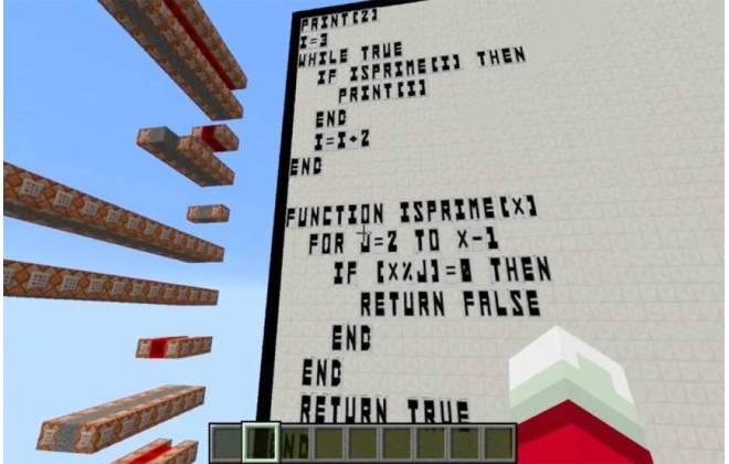 linguagem BASIC no Minecraft