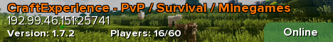CraftExperience - PvP / Survival / Minegames