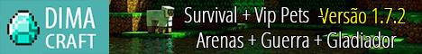 Servidor de Minecraft: DimaCraft 1.7.2 Survival + Pets Vip